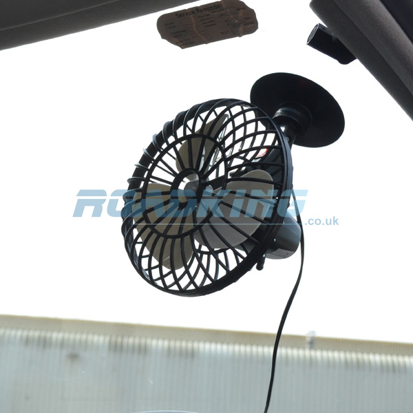12v Cooling Fan 5 Inch Oscillating Fan With Suction Cup